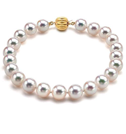 Bracelet perles Akoya Japon Perle de culture Eau de mer 6.57mm
