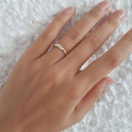 Alliance de mariage femme - Or jaune - Diamant