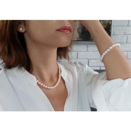Parure Sensuelle I Collier, Bracelet, Boucles Oreilles Perles Or jaune