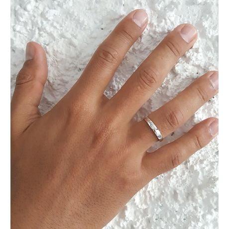 Fede nuziale Uomo Ovidio. Platino & Diamante brillante | Gemperles