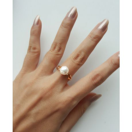 Anello Akina - Oro Giallo, Diamanti e Perla Akoya
