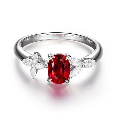 Bague La Esmeralda Rubis Or blanc Diamants
