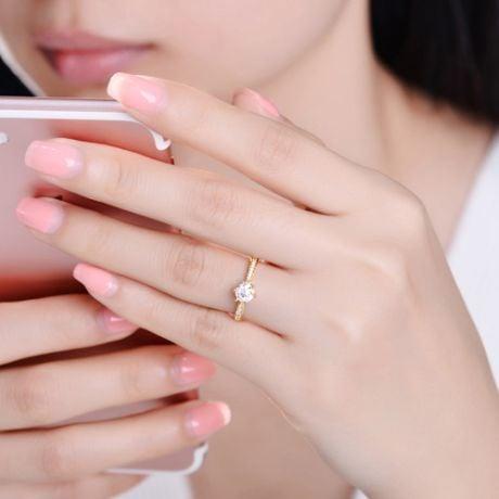 Anello di Fidanzamento Koh-I-Noor - Diamante Solitario su Oro Giallo 18kt | Gemperles