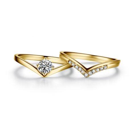 Anello di Fidanzamento Wonder Woman - Diamante Solitario Composto & Oro Giallo | Gemperles