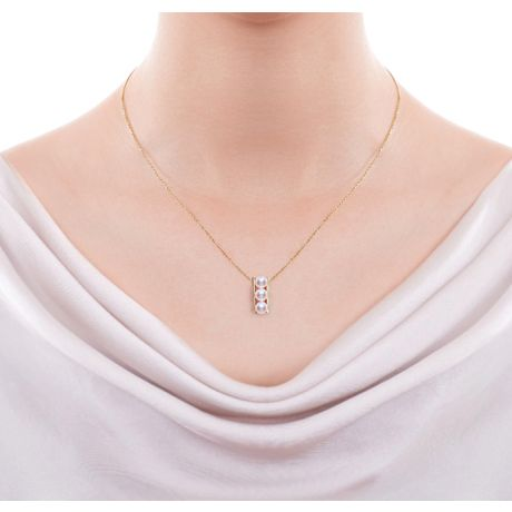 Orecchini e Ciondolo di perle Akoya - AAA, Oro Giallo
