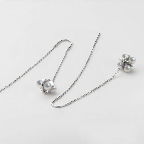 Boucles Oreilles Trèfle 4 Perles - 2