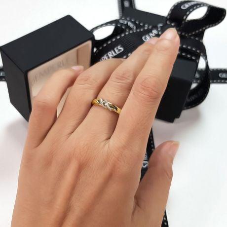 Alliance de Mariage Femme Héloïse - Or Jaune & Diamants | Gemperles