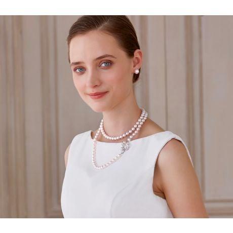 Collier sautoir perles Akoya 90cm - Perle AAA, 7.5/8mm - Hajime