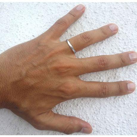 Fede Nuziale Classica Allan Platino - Matrimonio Uomo | Gemperles