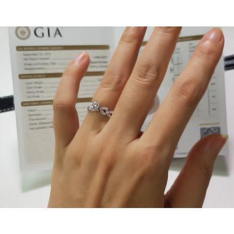 Anello di Fidanzamento Sensation - Oro Bianco e Diamante Solitario Composto | Gemperles