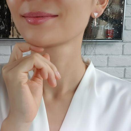 Orecchini Pendenti Anastasia - Oro Rosa & Diamanti
