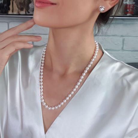Collana Di Perle Ema - Akoya Giappone Bianche - 7/7.5mm, GEMMA / HANADAMA