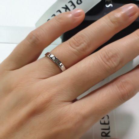 Fede Nuziale Donna Love for Ever - Oro Bianco e Diamante VS/G