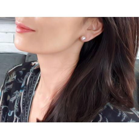 Orecchini A Lobo Hiroba - Perle Akoya Bianche 7/7.5mm AAA - Farfalla Oro Giallo