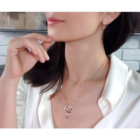 Ciondolo - Oro rosa 7.11gr - Diamanti 0.339ct