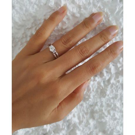 Anello di Fidanzamento Composto Darling - Platino & Diamanti | Gemperles