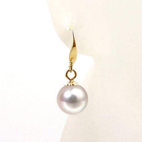 Boucles d'oreilles perles Akoya blanches - 7/7.5mm - GEMME - Or jaune