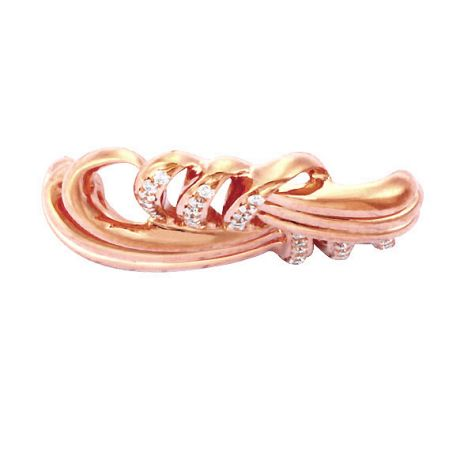 Ciondolo - Oro rosa 3.43gr - Diamanti 0.160ct