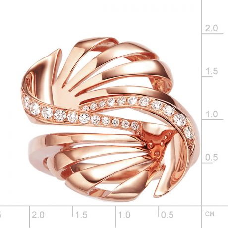 Bague originale or rose 750/1000 - Diamants 0.192ct | Neptune