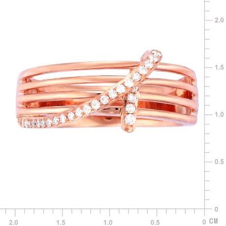 Anello Donna - Oro rosa 4.58gr - Diamanti 0.133ct