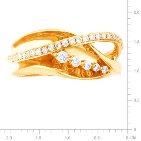 Anello Donna - Oro giallo 4.65gr - Diamanti 0.33ct