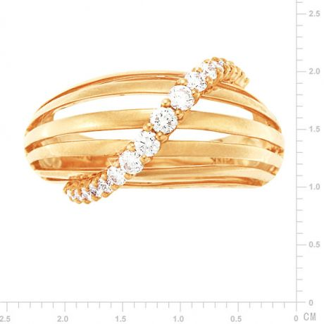Bague contemporaine or - Barrettes or jaune, diamant - Diamants 0.394ct