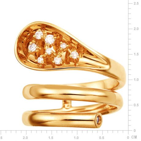 Anello Donna - Oro giallo 9.30gr - Diamanti 0.129ct