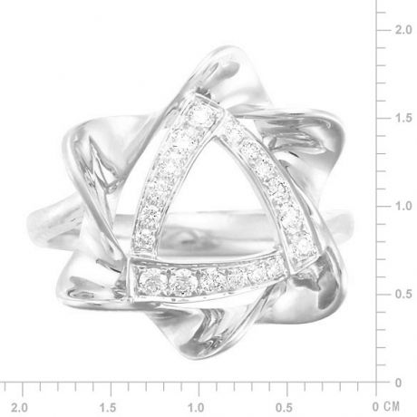 Anello Donna - Oro bianco 4.92gr - Diamanti 0.21ct