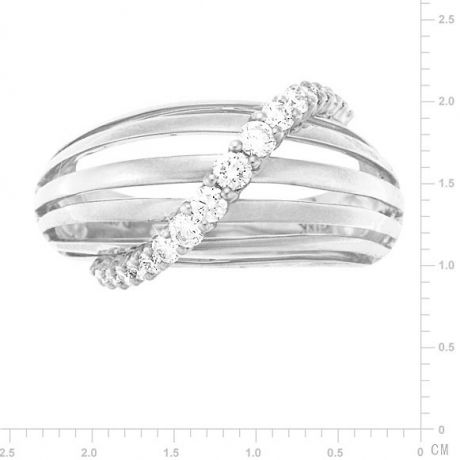 Bague contemporaine or - Barrettes or blanc, diamant - Diamants 0.394ct