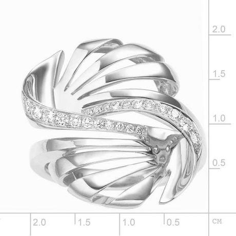 Anello da Donna. Oro bianco 18 carati & Diamanti VS/G | Neptune