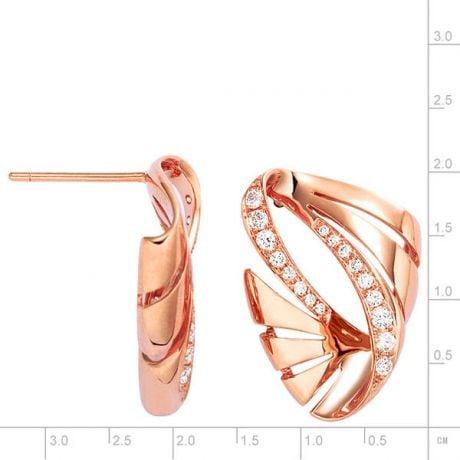 Orecchini - Oro rosa 5.43gr - Diamanti 0.380ct