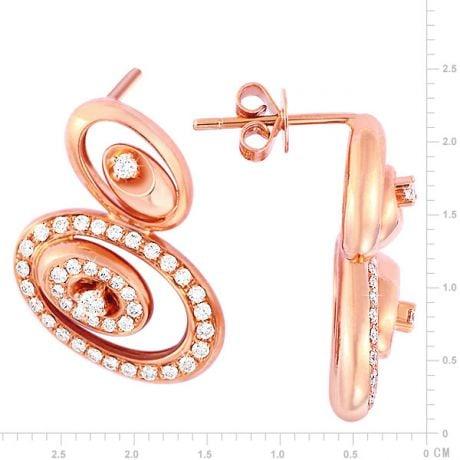 Orecchini San Pietro - Pendenti da Donna in Oro Rosa e Diamanti