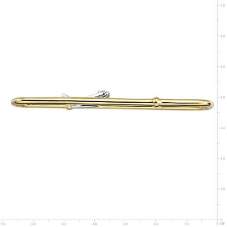 Ciondolo - Oro giallo, bianco 6.80gr - Diamanti 0.173ct