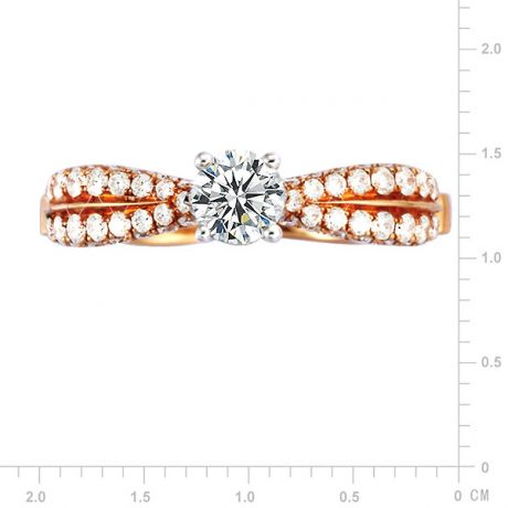 Solitaire de Prestige - Bague 2 Ors - Pavage 91 Diamants 1.014cts | Gemperles