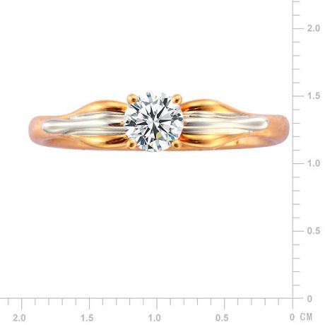 Anello Davana - Diamante Solitario, Oro Rosa & Bianco 18ct | Gemperles