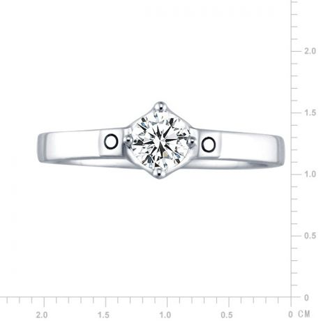 Solitaire en or blanc - Solitaire diamant 0.35ct pour fiancailles