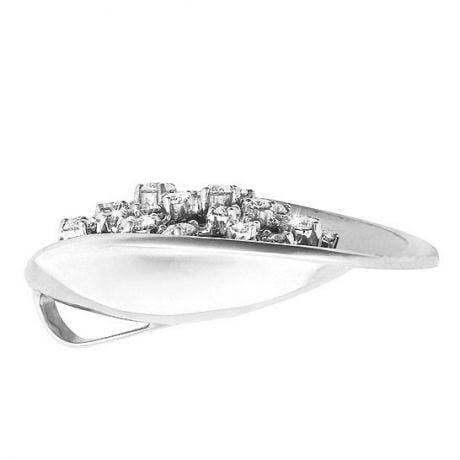 Ciondolo - Oro bianco 10.64gr - Diamanti 1.100ct