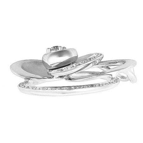 Ciondolo - Oro bianco 5.70gr - Diamanti 0.300ct