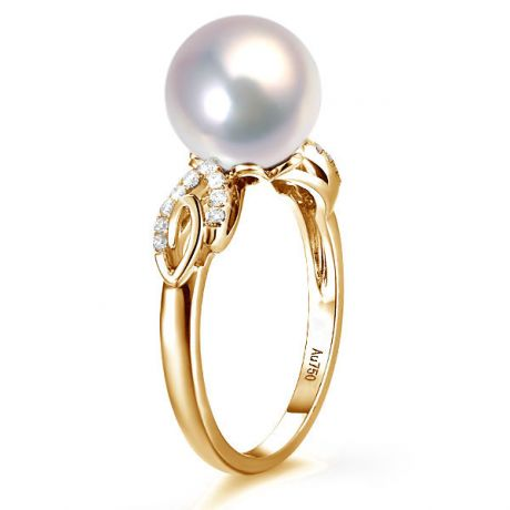 Anello Couple Danseur - Oro Giallo 18kt, Diamanti e Perla d'Acqua Dolce