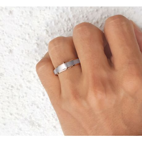 Bague Homme en Diamants, Or blanc et rose | Montserrat