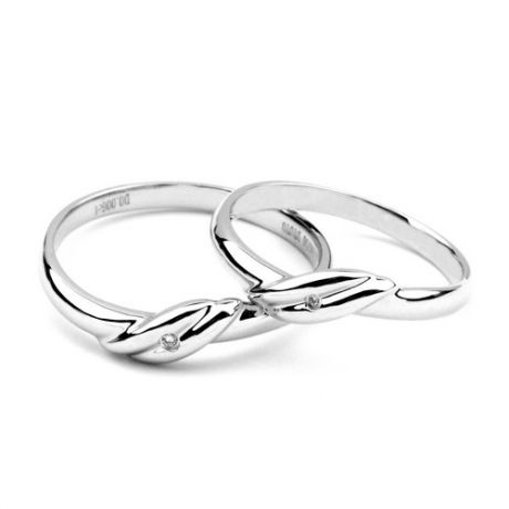 Bijoux alliances mariage - Alliances couple - Or blanc - Diamant