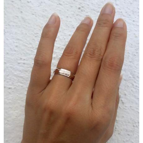 Fede Donna - 2 Ori 5.13gr - Diamanti 0.060ct
