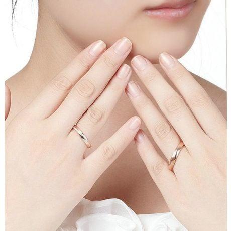 Alliances modernes homme et femme. Or rose 18cts, diamants   Aurélia & Quinto