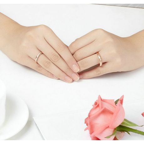 Fede Nuziale da Uomo Quinto - Oro Rosa e Diamante Interno
