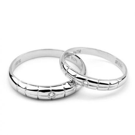 Fede Nuziale per Uomo Harvey - Platino e Diamante Solitario
