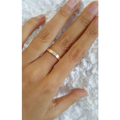 Fede Nuziale Avonis da Donna - Oro Giallo 18kt e Diamante