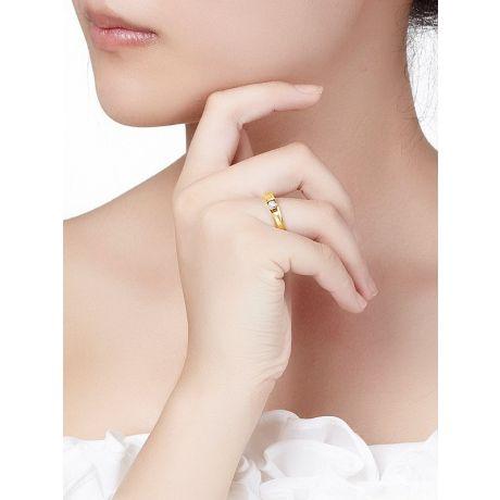 Alliance solitaire diamant -  Alliance Femme or jaune 18cts   Divona