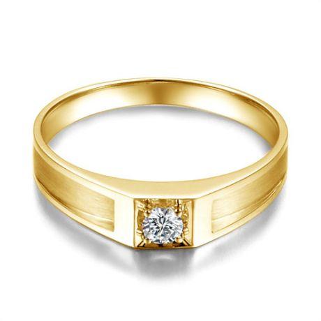 Alliance de type solitaire. Alliance Homme en or jaune et diamant | Manuel