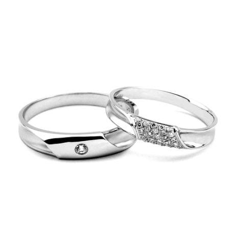 Duo d'alliances prestige - Platine, diamants