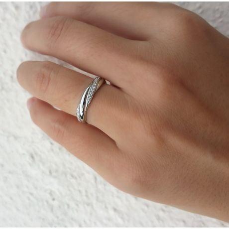 Fede Donna in Oro bianco & Diamanti. Fedina fidanzamento | Héra